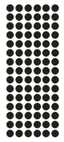 """1//2/"""" BLACK Round Vinyl Color Coded Inventory Label Dots Stickers USA MADE"""
