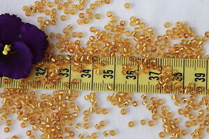 9-0-Old-Time-Vintage-Venetian-Made-In-Italy-Silver-Lined-Gold-Seed-Beads-1oz