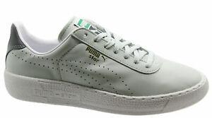Puma-Star-Para-Hombre-formadores-de-luz-Cuero-Gris-Unisex-Zapatos-Bajos-359276-10-D79