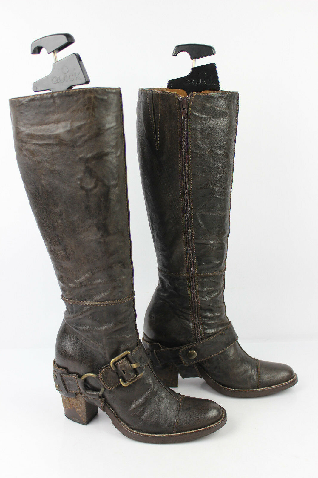 Dyva boots made in italy brown all leather size 35 --   36 tres bon etat