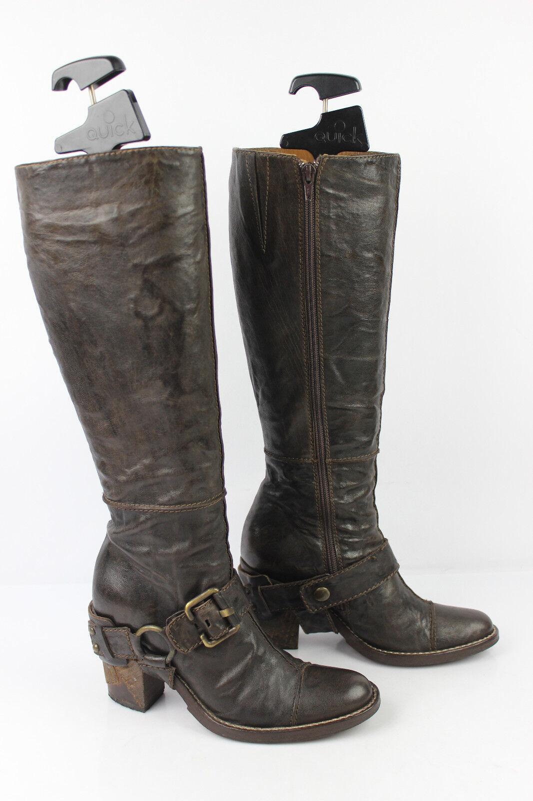 Stiefel DYVA made in italy Vollleder Braune t 35   36 sehr guter Zustand  | Ermäßigung