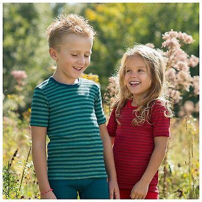Engel Unterhemd kbT Schurwolle Seide Kinder langarm Shirt Wolle Funktionswäsche