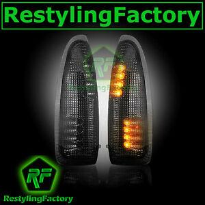 2003-2007-Super-Duty-Side-Mirror-Turn-Lights-LED-SMOKE-Lens-Replacement-Kit-Set