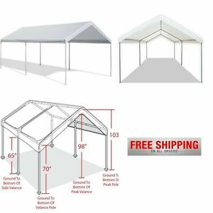 Image is loading Portable-Car-Canopy-Garage-Tent-Outdoor-Carport-Shelter-  sc 1 st  eBay & Portable Car Canopy Garage Tent Outdoor Carport Shelter Caravan ...