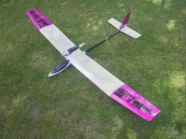 RC Thermal Glider FRP & carbon fuselage with Removable Motor Pod 5 ft wing span