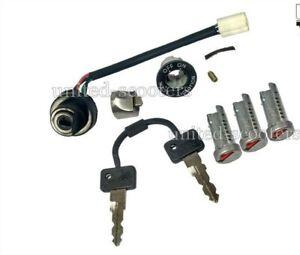 Vespa-Ignition-Switch-Electric-Start-Three-Barrel-Lock-2-Key-PX-LML-Stella-Star