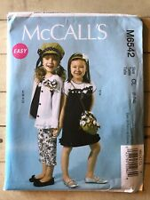 Dress Pants Hat /& Purse McCalls Pattern M6542 Girls EZ Cardigan Top