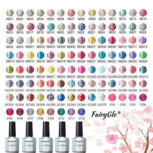 FairyGlo-UV-LED-Gel-Nail-Polish-Soak-off-Bling-Color-Neon-Sequin-Glitter-Varnish