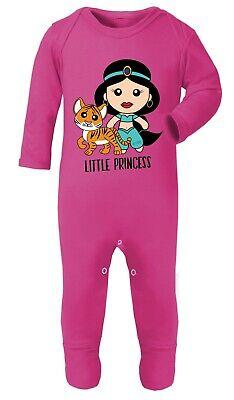 Aladdin Princess Jasmine 0-24 Funny Baby Shower Gift Cotton Bodysuits Babygrow