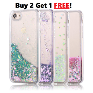 buy popular a457a 6602e Details about Floating Hearts Liquid Waterfall Bling quicksand Glitter Case  For iPhone Models