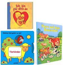 Hammerpaket für Kleinkinder: 3 Bilderbücher/Pappbücher (Bauernhof, Tierkinder...