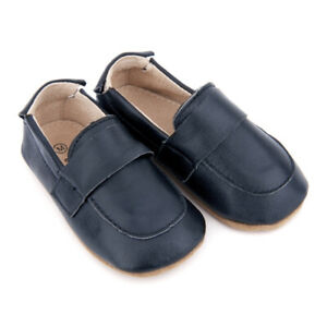 NEW-SKEANIE-Pre-walker-Leather-Loafers-Navy-0-to-2-years