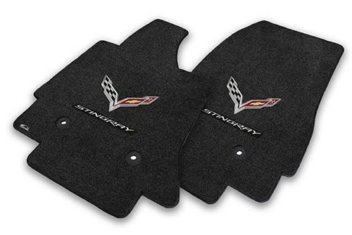 LLOYD LUXE™ custom made FLOOR MATS 2014-17 Corvette; C7 logos /& Stingray letters