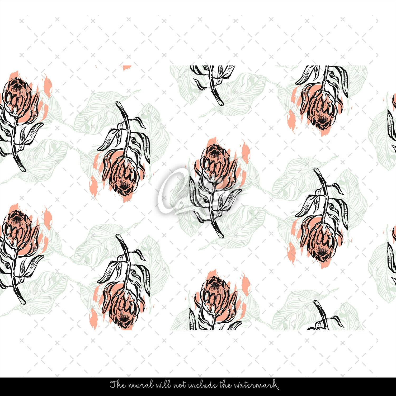 Hand drawn flowers Non-Woven Wallpaper Wallpaper Wallpaper roll pink mural Traditional Modern Home 11c709