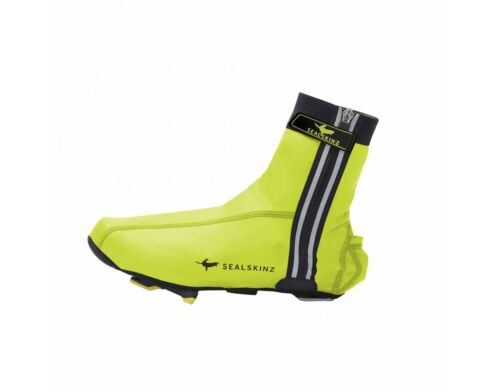 Hi-Vis Yellow SealSkinz Lightweight Halo Cycling Overshoes