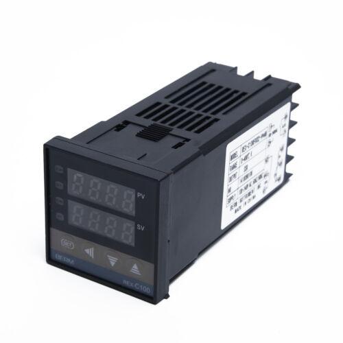 Digital PID REX-C100 Temperature Controller /& Max.40A SSR /& K Thermocouple cable