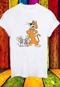 Pixie-e-Dixie-e-il-signor-Jinks-Topi-Gatto-Divertente-Cartoon-Uomini-Donne-Unisex-T-shirt-838