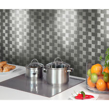 Peel And Stick Backsplash Kitchen Metal Wall Tile Self Adhesive Mosaic Wallpaper
