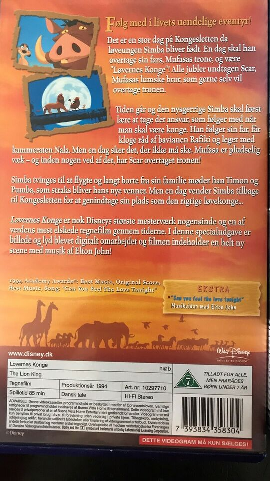Tegnefilm, Originale Disney VHS Klassikere, instruktør