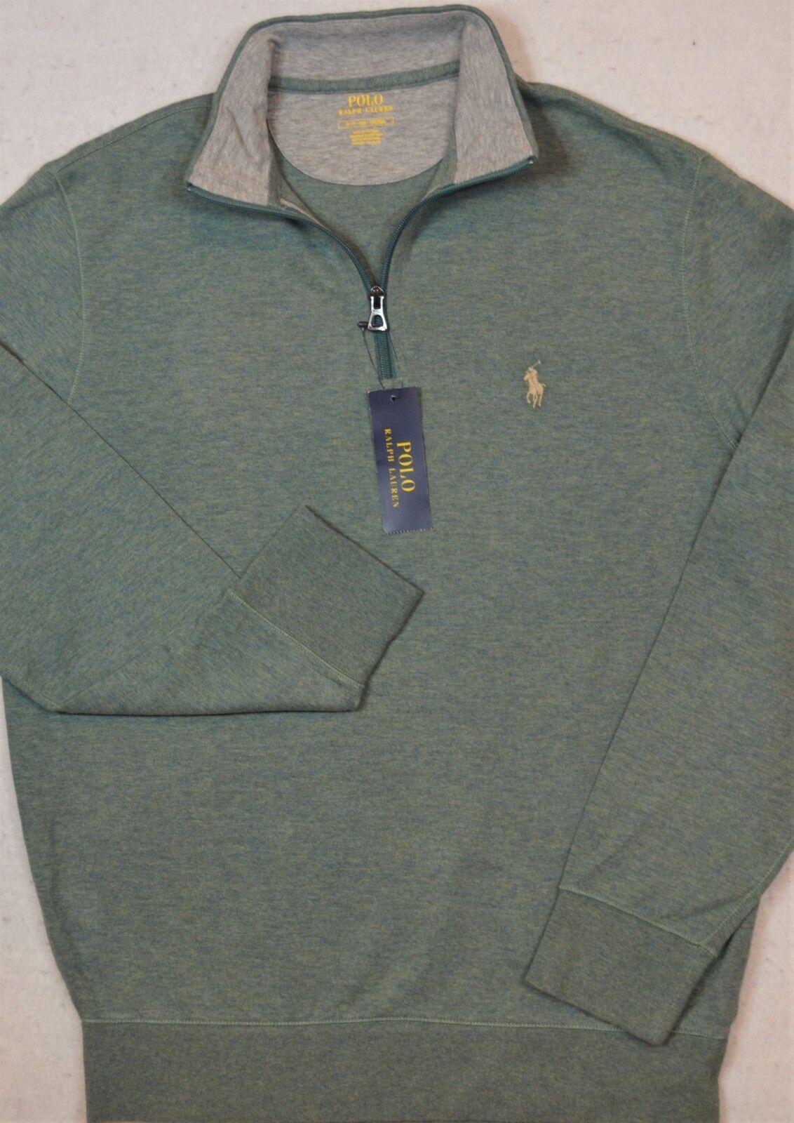 Polo Ralph Lauren Jersey Pullover Grün 1/2 Half-Zip Größe XXL NWT