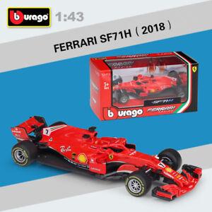 New-2018-1-43-Ferrari-F1-SF71H-Racing-car-7-Kimi-Raikkonen-Diecast-Car-Model