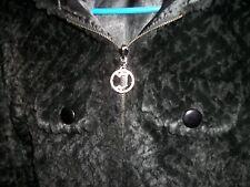 JLO --Jennifer Lopez-- black fur-like/satin hooded WINTER jacket. small size