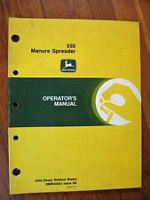John Deere 550 Manure Spreader Operator's Manual