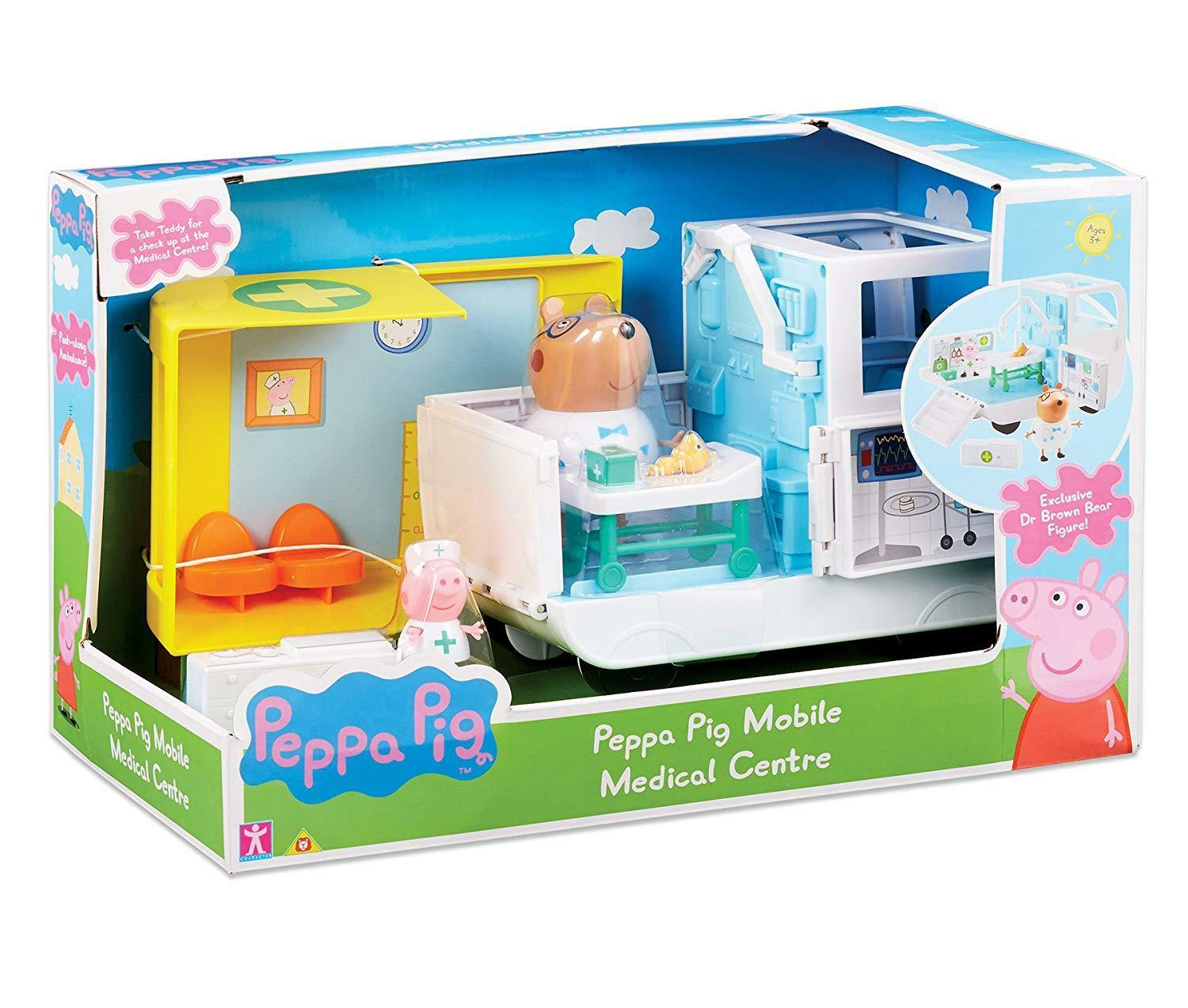 Peppa Pig Peppa's Mobile Medical Centre Centre Centre Toy Playset & Figures Age 3+ 5ab4a7