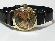 Lucerne Swiss Vintage Tiger Gold Tone Mechanical Hand Winding Watch (TL-324S)