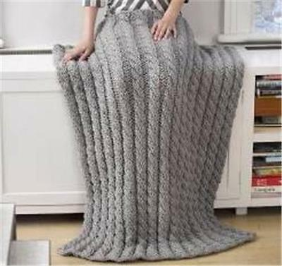 knitting pattern for chunky cabled afgan/ cot  blanket.    36 x 50 inches