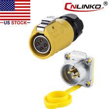 Cnlinko 4 Pin Power Connector Female Plug Amp Male Socket Waterproof Outdoor Ip67