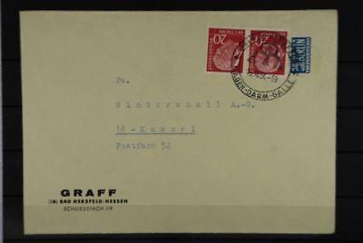 Heimatgeschichte Paar Mef Brief Herzhaft B2 Bund 185xw/185xw Waag