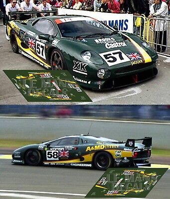 Decals Aston Martin DB7 Le Mans 1995 35 1:32 1:43 1:24 1:18 64 87 slot calcas