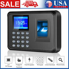 Office Biometric Fingerprint Checking In Attendance Machine Employee Time Clock
