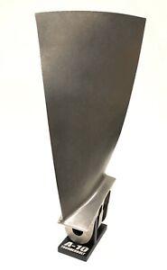 A-10 Warthog Titanium Jet Engine Blade. Turbine Gift Desk Model USAF TF34 HGU