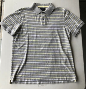 Men-039-s-BANANA-REPUBLIC-manches-courtes-a-Rayures-Polo-Shirt-Occasion-Taille-XL
