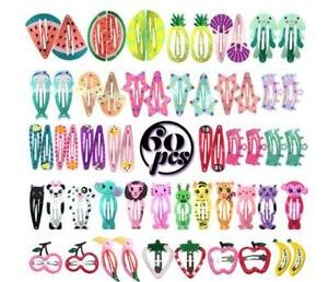 50pcs Snap Hair Clips Lovely Metal BB Hair Clip Barrettes for Girls Toddlers Kids Women Hair Accessories