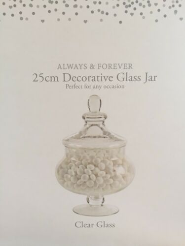 Vintage Glass Sweet Biscuit Jar Kitchen Jar Sweet Food Storage Large 25 Cm