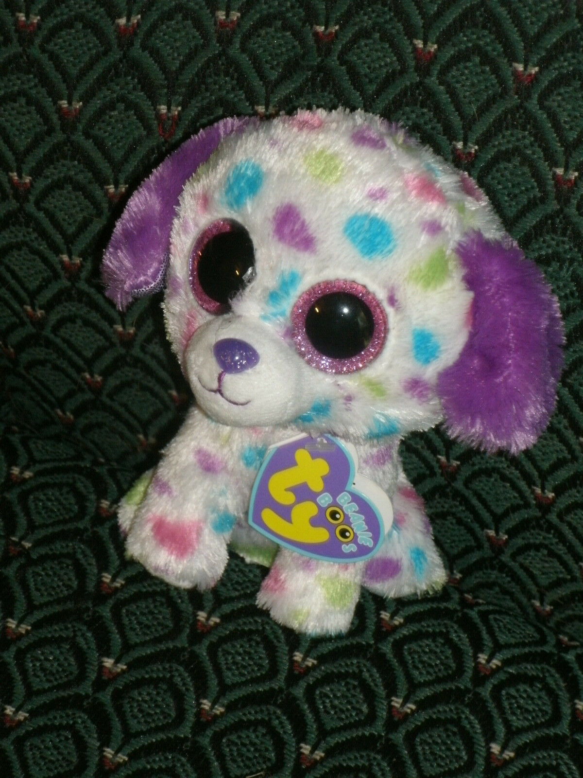 Ty Boo DARLING ( polka dot dog) 6  Mint Mint tag  RARE  JUSTICE's Exclusive
