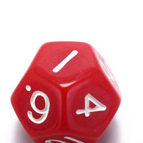 1pc acrylic 12 sided die multiple sided dice for funny party club playing gameLP