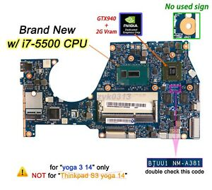 Lenovo-Yoga-3-1470-3-14-Laptop-BTUU1-NM-A381-i7-5500U-GTX940M-80JH-Motherboard