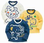 Bébé Enfants Garçons Impression Animal T-shirt Occasionnel Manches Longues