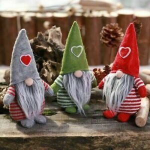 Cartoon-Santa-Claus-Plush-Doll-Gnome-Christmas-Ornament-Party-Decor-Kids-Gift