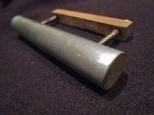 poignée de meuble-commode de métier en aluminium brossé 1950 vintage