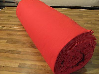 B1 Bühnenmolton-Deko-Molton-Stoff-rot 6m x 130cm breit 160gr Foto Hintergrund