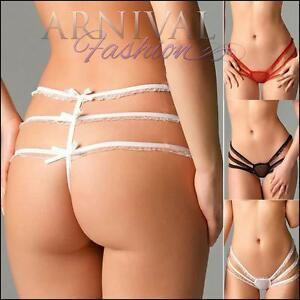 758eea0a8 Image is loading BRAZILIAN-G-STRING-LINGERIE-strappy-THONG-PANTY-sexy-
