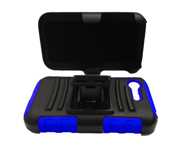 For LG Optimus Zone 2 VS415PP L34C Fuel Hybrid Holster Clip Phone Cover Case