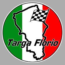 TARGA FLORIO SICILE SICILIA COURSE RACING TRACK AUTOCOLLANT STICKER 9cm TA107