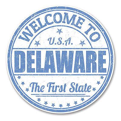 2 X 10cm Delaware Usa Vinyl Sticker Laptop Car Travel Luggage Tag Map Flag #6126 Lange Levensduur