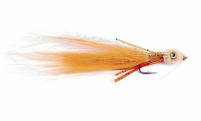 Fly Fishing Flies (Redfish, Permit, Trout, Bonefish) Bone Wiggler Tan (6 flies)